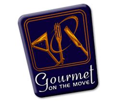 Gourmet on the move logo design melbourne studio rosinger