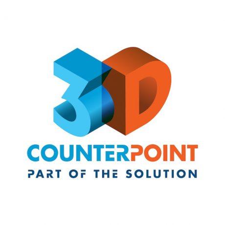 3D CounterPoint logo design melbourne studio rosinger