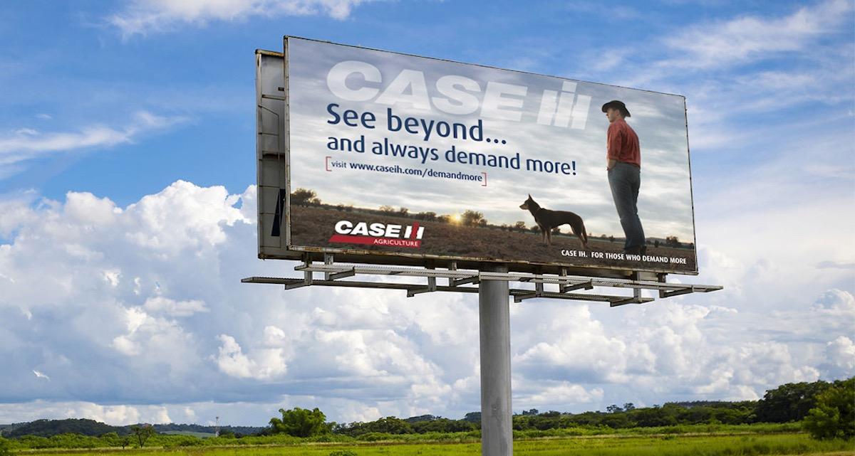 Case IH Billboard designed by Studio Rosinger Creative Agency Melbourne